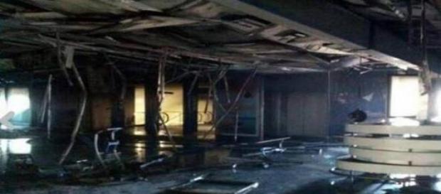 Incendio aeroporto di Fiumicino