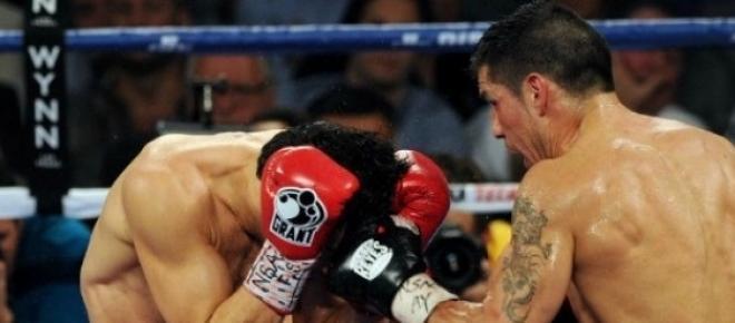 Imagen de la pelea entre Sergio Maravilla Martínez y Julio César Chavez Jr. del año 2012 (https://flic.kr/p/dexsao). <br />