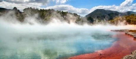 La piscina del champagne en Nueva Zelanda