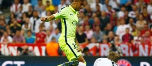 Neymar brilhou ao marcar os dois golos do Barça