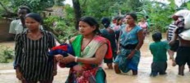 Chuva sazonal provocou inundações no Nepal em 2013