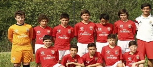 """Infantis """"A"""" da Geração Benfica Aveiro."""