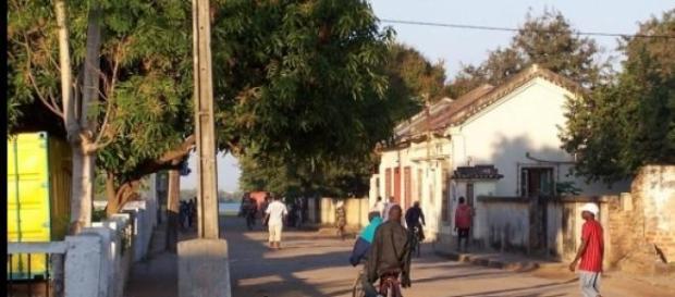 Rua de Quelimane, capital da província da Zambézia