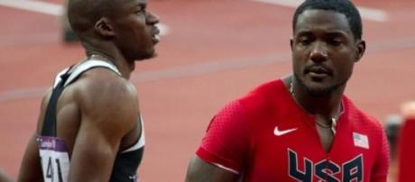 Gatlin (right) is among the stars expected in Doha