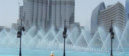 Fonte no  Dubai Mall, localizada no Dubai