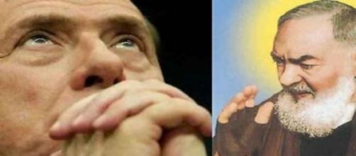 Berlusconi e Padre Pio in un fotomontaggio