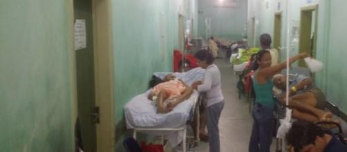 Hospitais superlotados no Ceará (Foto: Reprodução)