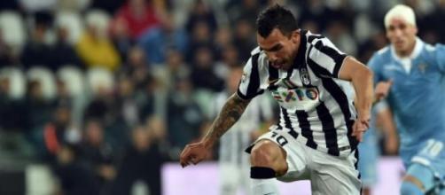 Tevez, a segno nell'ultimo Juve-Lazio