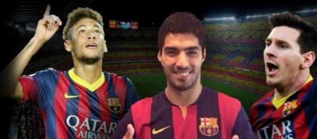 Le trio magique de Barcelone.