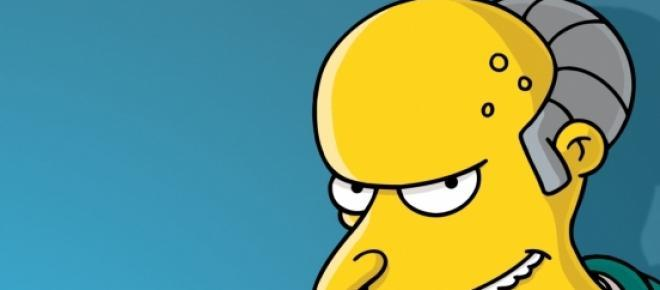 Mr. Burns, se queda sin voz