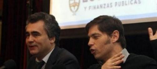 El ministro Kicillof junto al presidente del BCRA