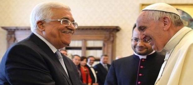 Abu Mazen incontra Papa Francesco in Vaticano