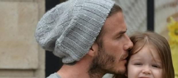 David Beckham mima a filha