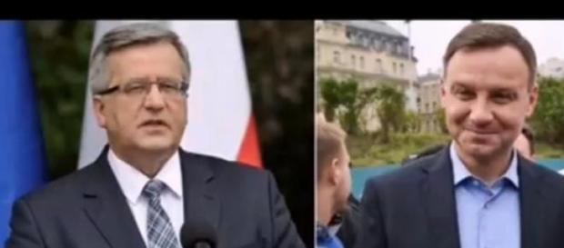 Komorowski vs Duda (print scrn YT)