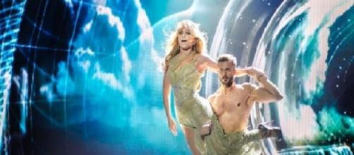Edurne y Giuseppe bailando Amanecer