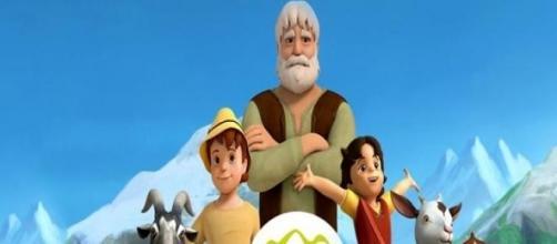 Heidi, Pedro, el Abuelo, Copito de Nieve y Niebla