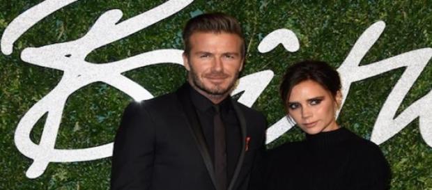 David Beckham et sa femme Victoria Beckham.