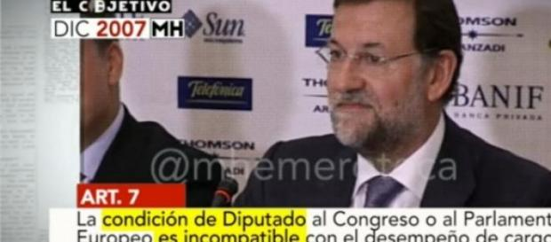 Imagen de Rajoy (programa El Objetivo de La Sexta)