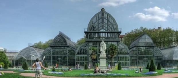 Le parc de le tête d'or de Lyon