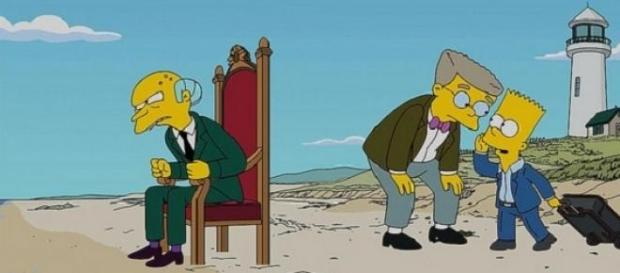 Mr Burns (left) was voiced by Harry Shearer