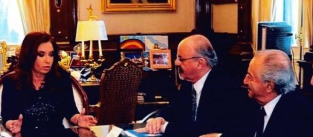 Tomada, Cristina Kirchner y Armando Cavalieri
