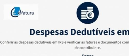 E-factura site agregado ao Portal das Finanças