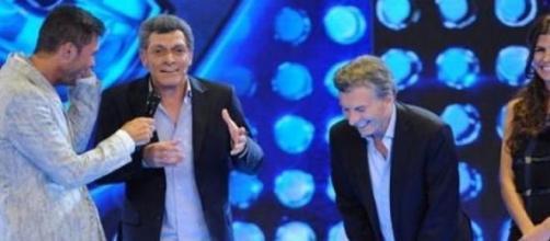 Macri y su imitador en ShowMatch