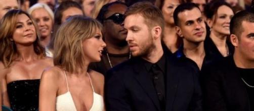 Taylor Swift só teve olhos para Calvin Harris.