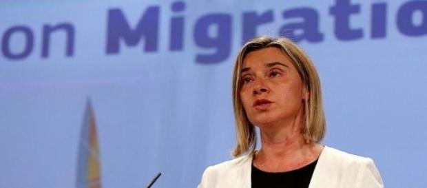 Il commissario UE agli Esteri, Federica Mogherini