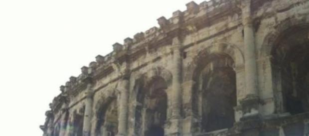 Les arènes de Nîmes, amphithéâtre romain.