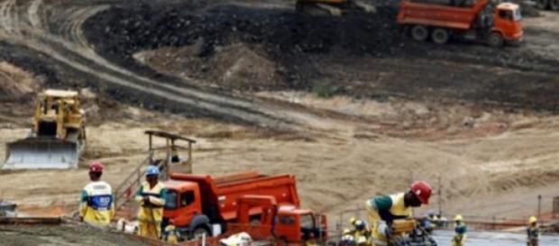 Les ouvriers sont en grève sur les sites des Jeux.