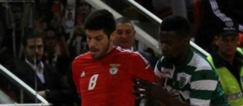 Patias (com Djo) fez o primeiro golo da partida.