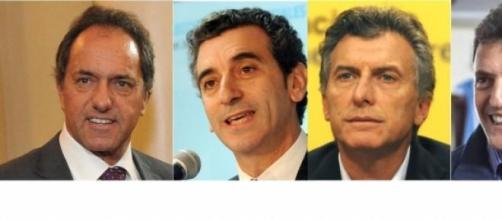 Scioli, Randazzo, Macri y Massa