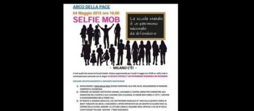 Scuola, locandina del selfie mob del 4 maggio.