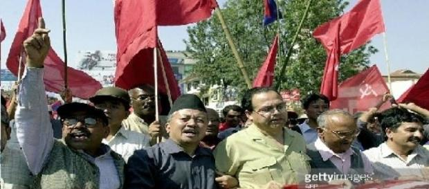 Carreata política em Kathmandu