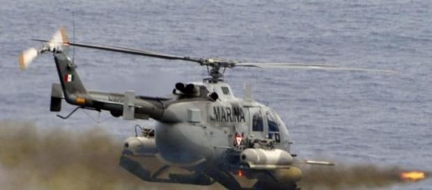 Helicóptero militar que foi atingido em Jalisco