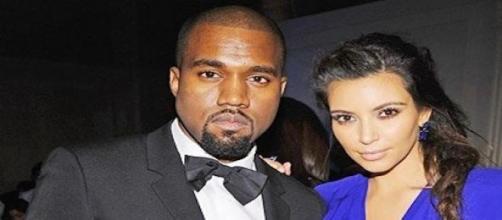 Kanye West et son épouse Kim Kardashian.