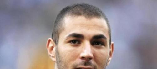 Karim Benzema joueur de l'Équipe de France.