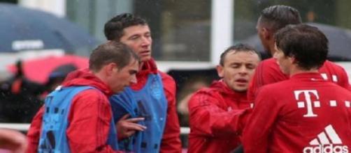 Lewandowski et Boateng séparés par Lahm et Rafinha