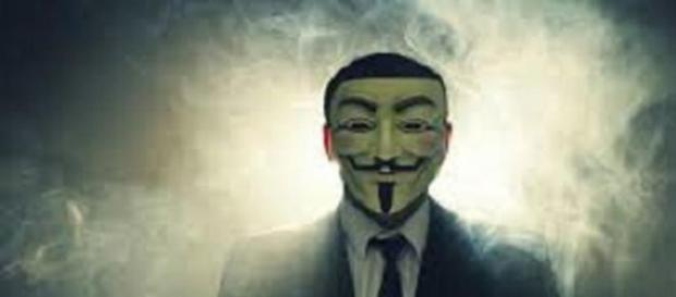 Maschera simbolo dei partecipanti ad Anonymous.