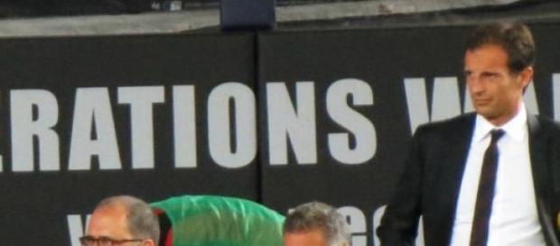 Massimiliano Allegri en un partido