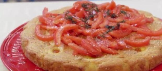 Torta vegetariana ai tre pomodori