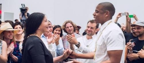 "Jay Z et Marina Abramovic dans ""Picasso Baby""."
