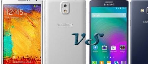 Samsung: Galaxy Note 3 vs Galaxy A7