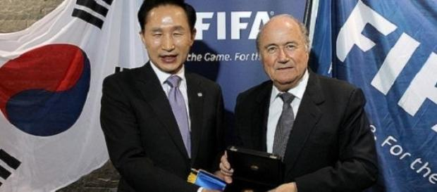 Blatter (right) retains the support of many