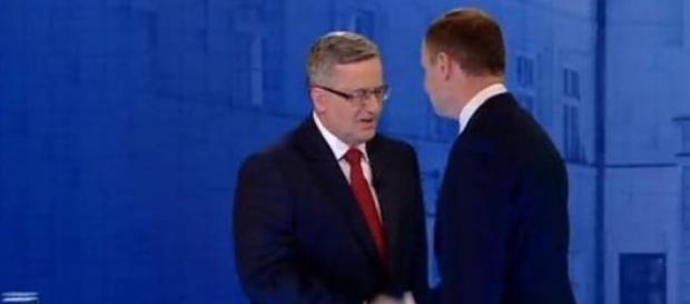 Bronisławem Komorowski i Andrzej Duda w TVN