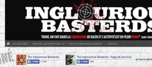 """Le site qui affirme scalper les """"nazis""""."""