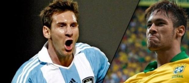 Messi y Neymar, dos estrellas de la Copa América.