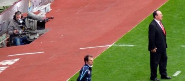 Rafa Benitez en un partido