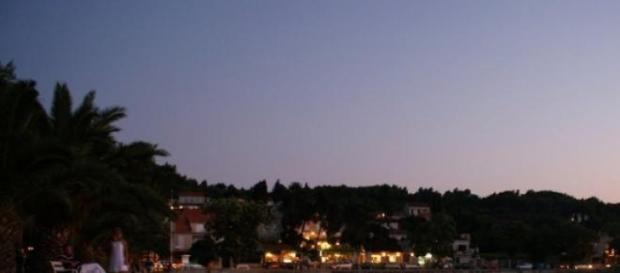 Romantyczny port  na chorwackiej wyspie Krk.